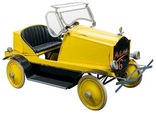 Packard 6 Pedal Car. Manufacturer unknown. Metal and