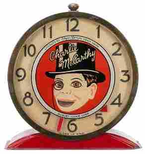 Gilbert Clock Co. Charlie McCarthy Alarm Clock. 1930s.