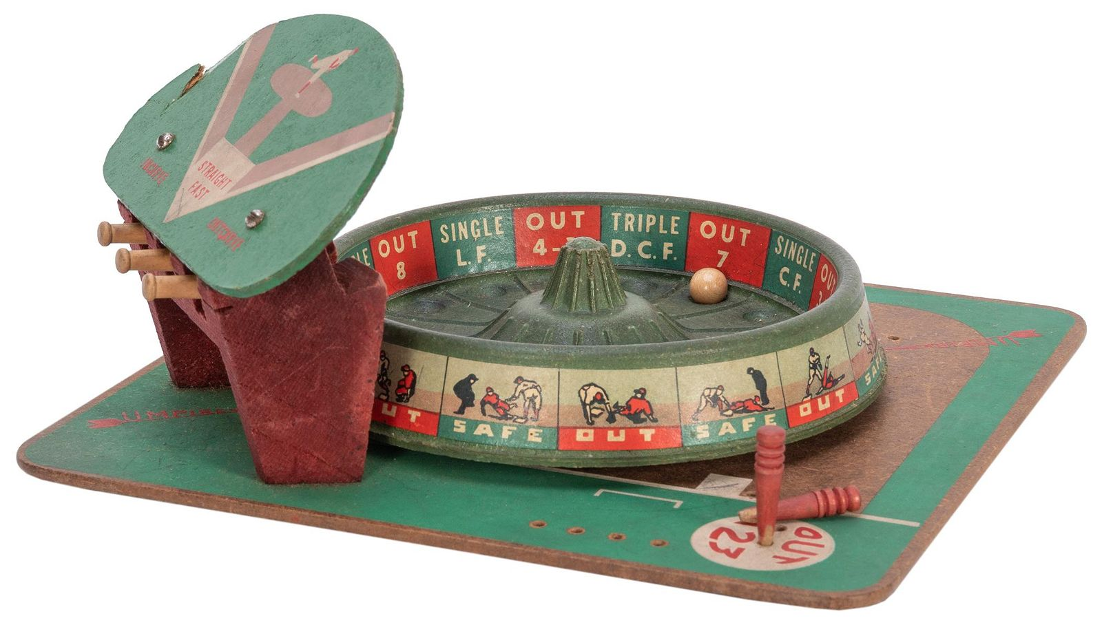 Pro Basbeall Roulette Wheel Game. PM Game Co., 1946.