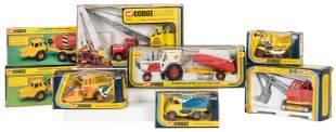 Lot of 8 Corgi Work and Construction Vehicles.