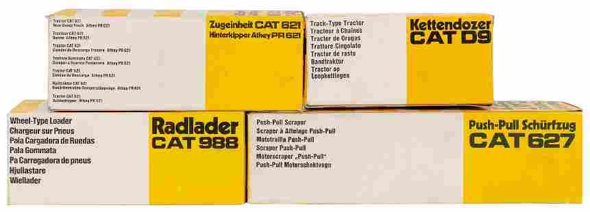 Group of 4 NZG / West German Caterpillar Diecast