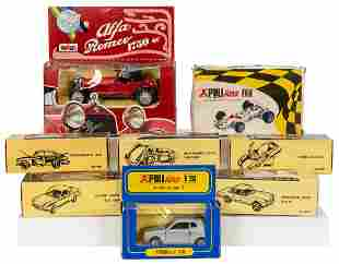 Politoys Collection of 8 Diecast Automobiles. Including