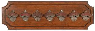 Group of 7 Starr Advertising Bottle Openers. Display of