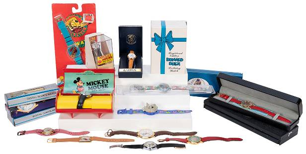 Lot of 31 Vintage Disney Watches. Circa 1980s/90s.