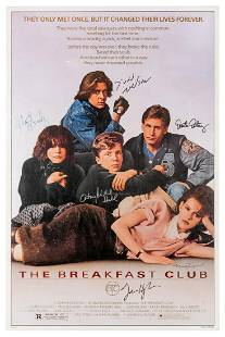 The Breakfast Club Poster, Signed by Cast. Signed by