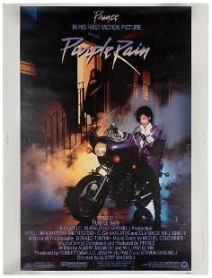 "Purple Rain. Warner Bros., 1984. Poster (40 x 30"""