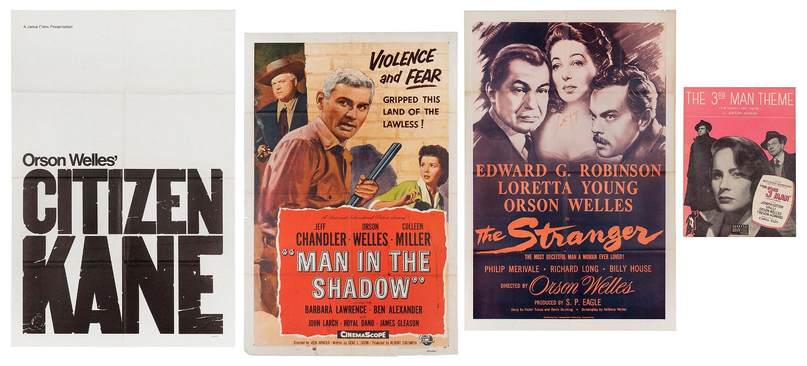 Collection of Orson Welles Movie Posters, Stills, and