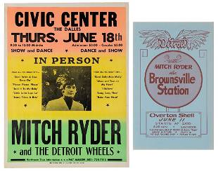 Pair of Mitch Ryder Concert Posters. Circa 1960s/70s.