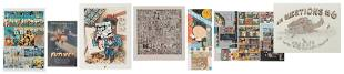 Lot of 7 Comics and Cartoonists Prints and Posters.