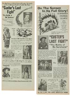 Pair of Custer's Last Fight Broadsides. Sioux