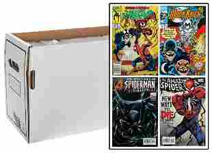 Lot of 3 Comic Boxes of Spiderman Comics. Marvel
