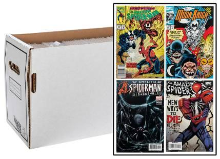 Lot of 2 Comic Boxes of Spiderman Comics. Marvel