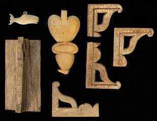 Lot of Carved Bone Decorative Items. Being a collection