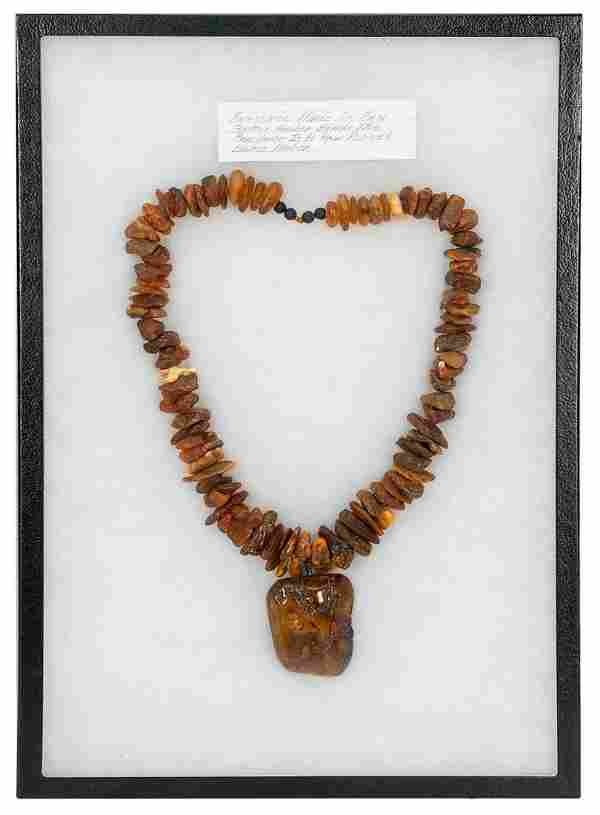 [JEWELRY] Baltic Amber Necklace. Raw Baltic amber