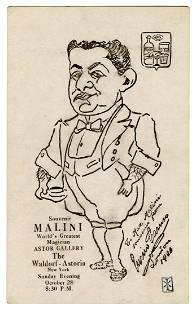 Malini, Max (Max Katz Breit). Max Malini Waldorf