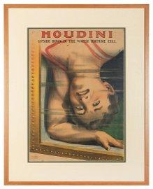 Houdini, Harry (Ehrich Weisz). Houdini Upside Down in