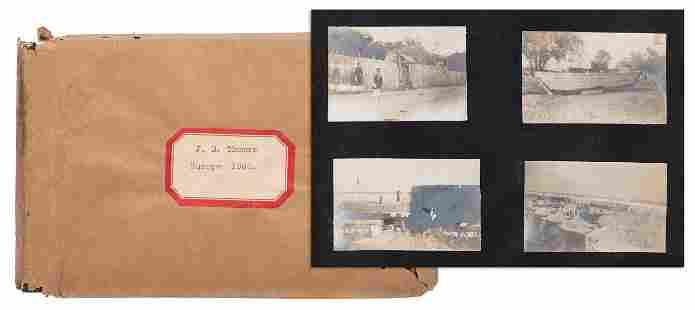 [EUROPE]. Photo album from 1903 European trip. 8vo,