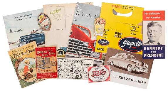 [ADVERTISING]. A group of early to mid-20th century