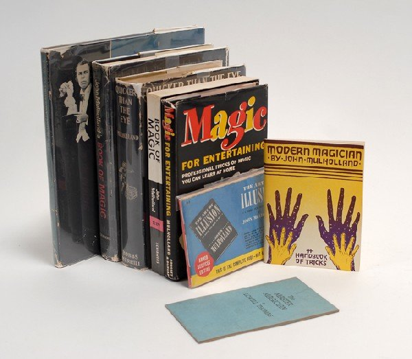 198: Group of eight magic books by or about John Mulhol