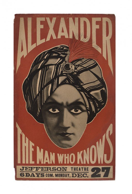 2: Alexander The Man Who Knows ca. 1920 window card.