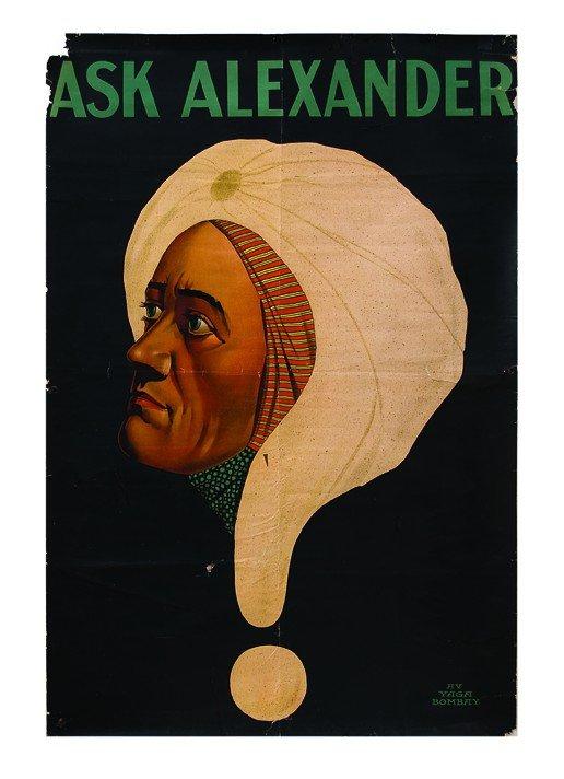 4: Alexander.  Ask Alexander. 1 sheet ca. 1920 poster