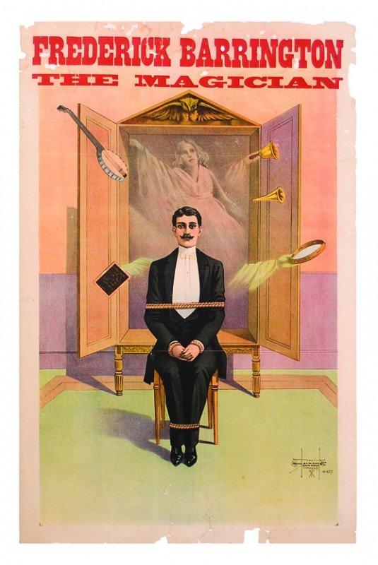9: Frederick Barrington The Magician ca. 1900 litho
