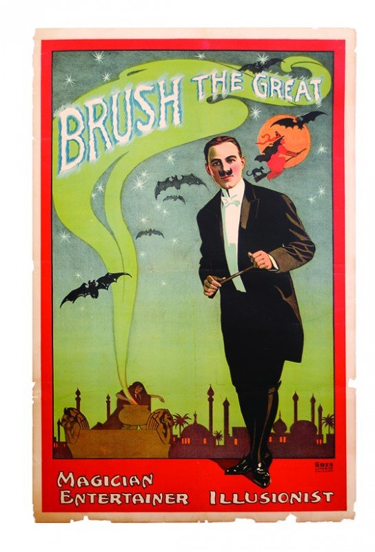 11: Brush the Great. Magician. lithograph ca. 1920