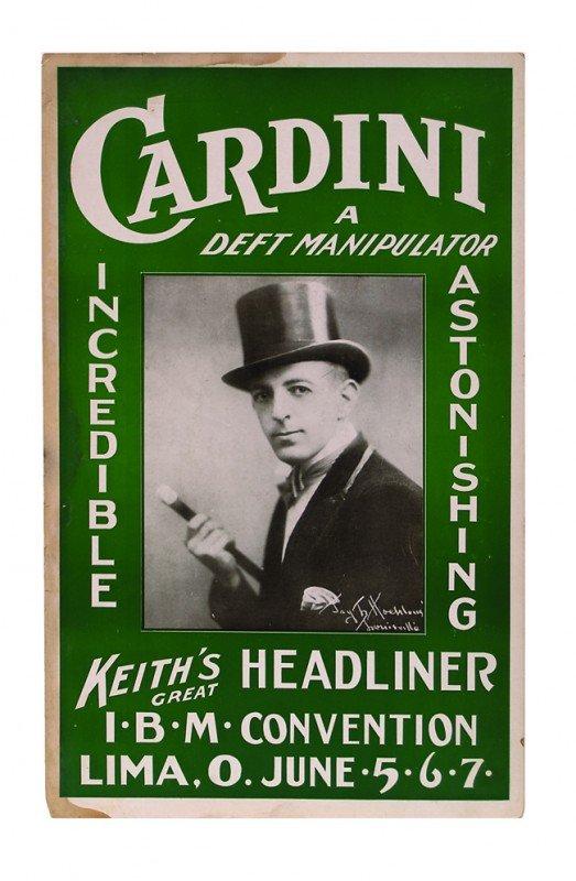 13: Cardini, A Deft Manipulator, window card ca. 1928