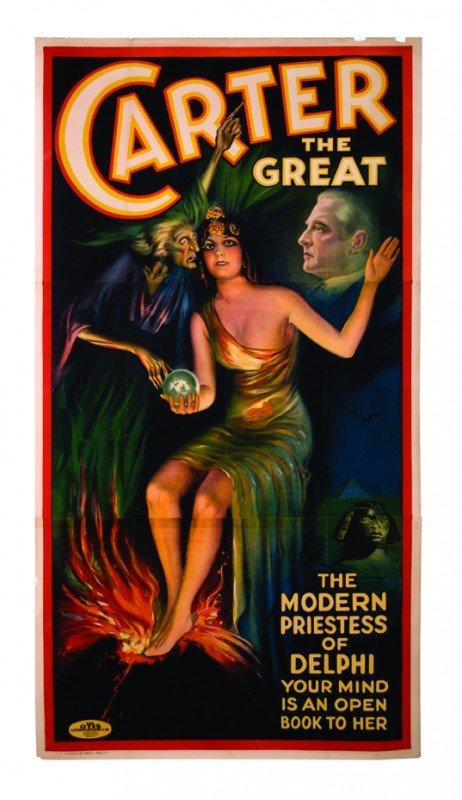 15: Carter. The Priestess of Delphi. 3 sheet litho.1926
