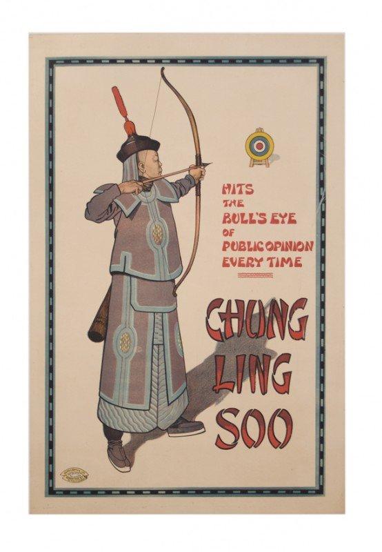 19: Chung Ling Soo Hits the Bull's Eye color litho 1913