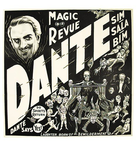24: Dante Magic Revue. six sheet poster. ca 1946.