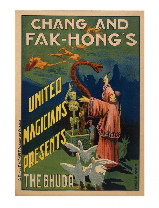 29:  Two Fak-Hongs magic posters. Lithographs ca 1930