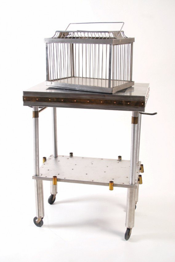 9: Cage Production Table. Merv Taylor. Custom Made.