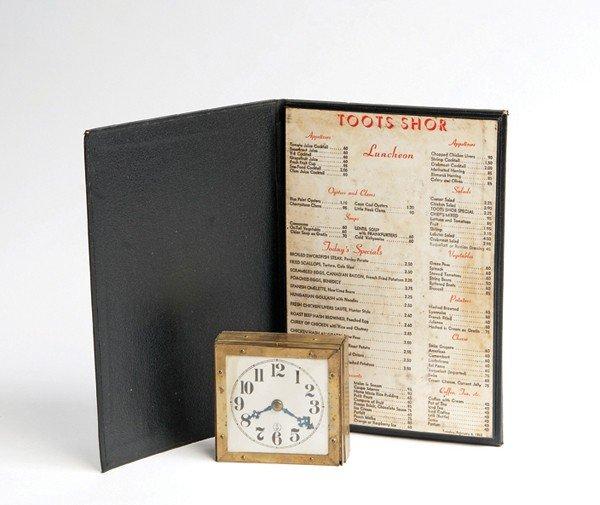 105: Menu Clock Production. Himber's Custombilt ca 1963