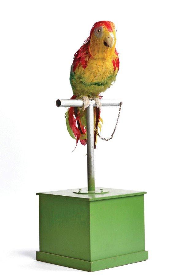 115: Parrot Automaton. American [?] ca. 1950. Life size