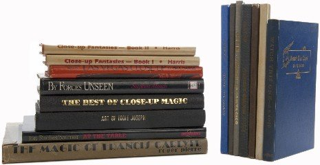 10: Group of 15 books about close-up magic