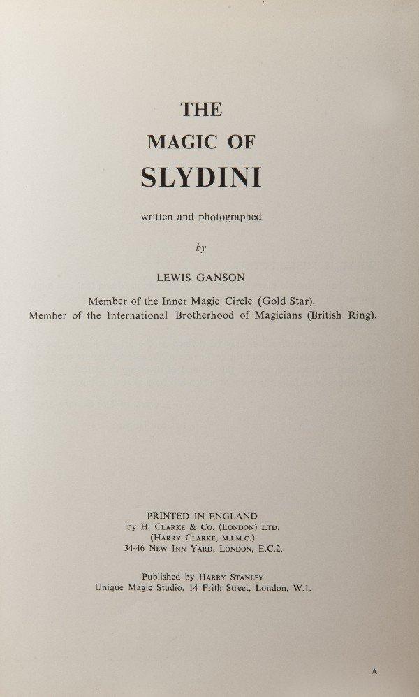 24: The Magic of Slydini Insc. & signed to L. Jennings