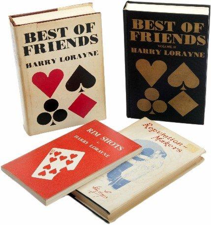 44: Four Harry Lorayne magic books, two signed