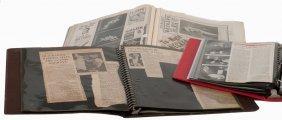 Four Vintage Scrapbooks Of Magic Ephemera