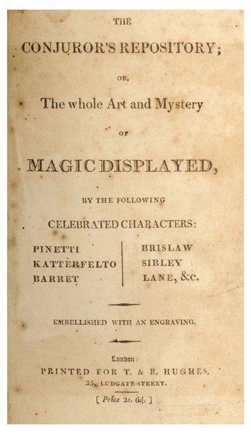 169: The Conjuror's Repository. London: T&R Hughes 1803