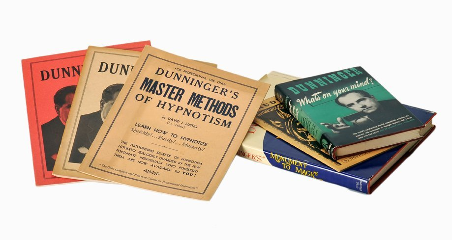 175: Six Dunninger books from his own library