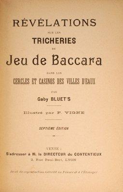 5: Gaby Bluets. Revelations de Baccara(t). 1901