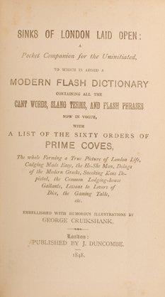 16: Dens of London. London: J. Duncombe, 1848.