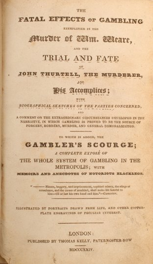 23: The Fatal Effects of Gambling. London, 1829.