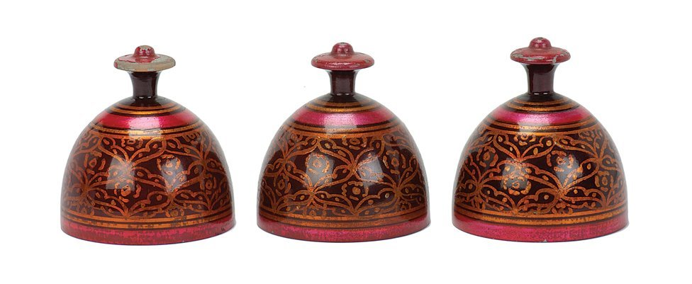 15: Indian Cups. Bombay, Tayade, ca. 1970.  Turned wood
