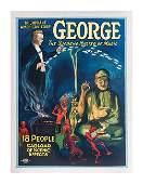 184: George. Triumphant American Tour. Half sheet litho