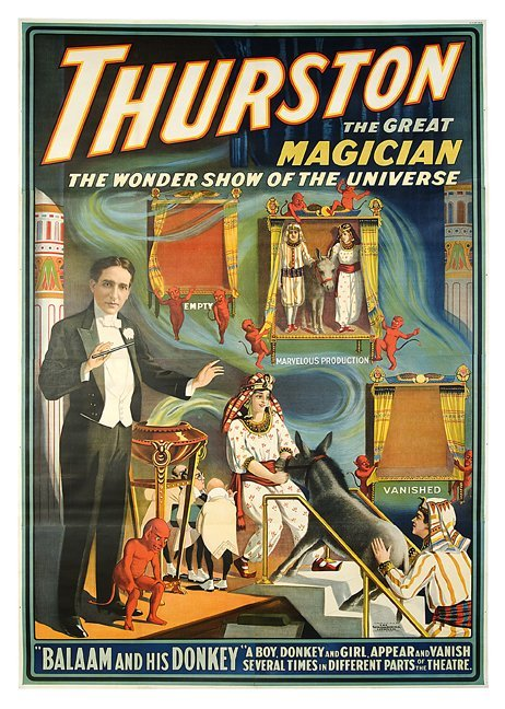 283: Thurston the Magician. Balaam and his Donkey.