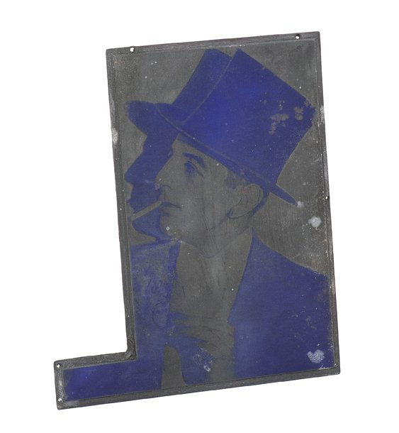 Early portrait of Cardini printing plate.