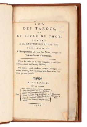 Alliette (Etteilla), Jean Baptiste. Jeu Des Tarots 1788