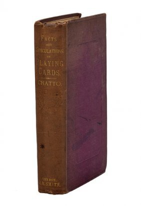 Chatto. Facts and Speculations .....Playing Cards.1848